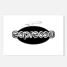 Espresso Steam Logo Postcards (Package of 8)