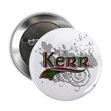 """Kerr Tartan Grunge 2.25"""" Button"""