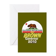 Brown Governor Greeting Card