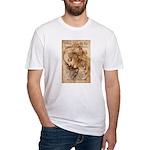 Christmas Shakespeare Da Vinci Fitted T-Shirt