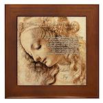 Christmas Shakespeare Da Vinci Framed Tile