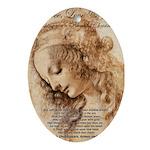 Christmas Shakespeare Da Vinci Oval Ornament