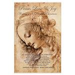 Christmas Shakespeare Da Vinci Large Poster