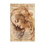 Christmas Shakespeare Da Vinci Mini Poster Print