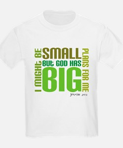 Christian kids tee: Big Plans (Jeremiah 29:11)