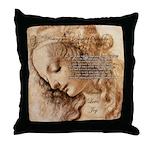 Christmas Shakespeare Da Vinci Throw Pillow