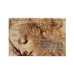 Christmas Shakespeare Da Vinci Rectangle Magnet (1