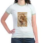 Christmas Shakespeare Da Vinci Jr. Ringer T-Shirt