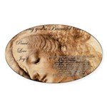 Christmas Shakespeare Da Vinci Oval Sticker