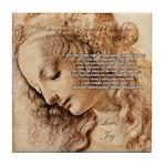 Christmas Shakespeare Da Vinci Tile Coaster
