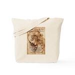 Christmas Shakespeare Da Vinci Tote Bag