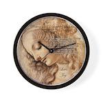 Christmas Shakespeare Da Vinci Wall Clock