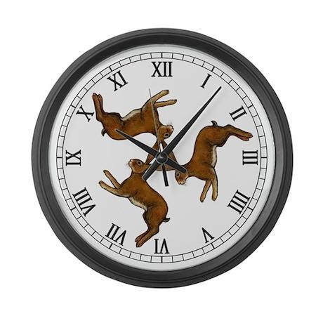 Splitting Hares Large Wall Clock