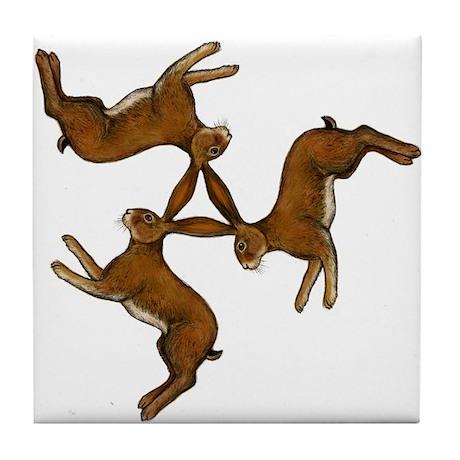 Splitting Hares Tile Coaster