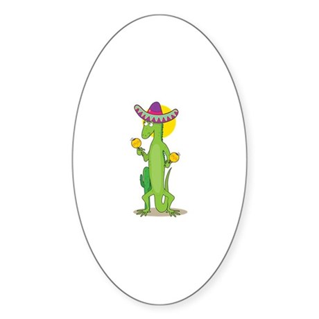 Animal Alphabet Iguana Sticker (Oval 10 pk)