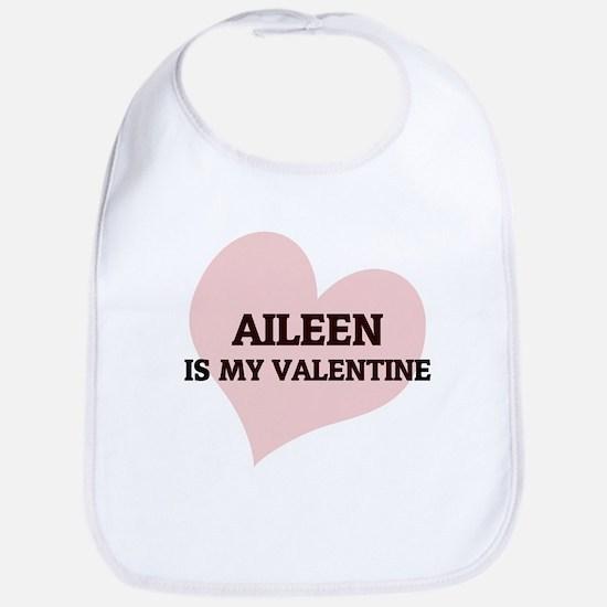 Aileen Is My Valentine Bib