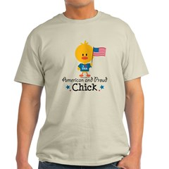 American and Proud Chick Light T-Shirt