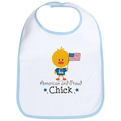 American and Proud Chick Bib