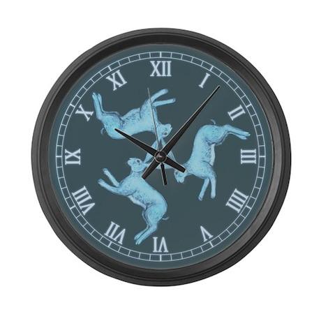 Lunar Hares Large Wall Clock