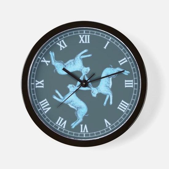 Lunar Hares Wall Clock