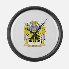 Ross- Family Crest - Coat of Arms Large Wall Clock