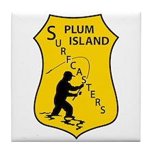 Plum Island Surfcasters Tile Coaster