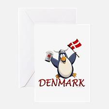 Denmark Penguin Greeting Card