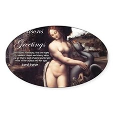 Christmas Seduction / Pleasure Oval Decal