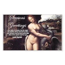 Christmas Seduction / Pleasure Sticker (Rectangula