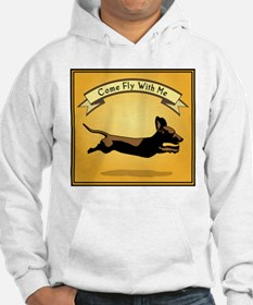 Flying Wiener Dog Hoodie