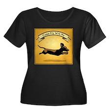 Flying Wiener Dog T