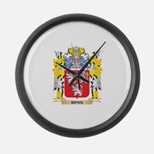 Ross Family Crest - Coat of Arms Large Wall Clock