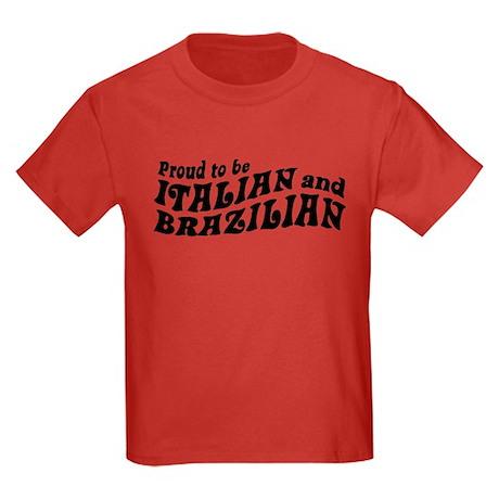 Italian and Brazilian Kids Dark T-Shirt