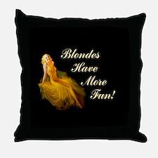 Blonde Pin-Up Throw Pillow
