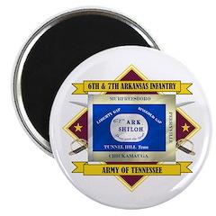 6th & 7th Arkansas Infantry Magnet