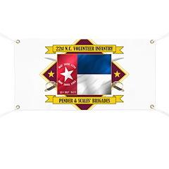 22nd NC Volunteer Infantry Banner