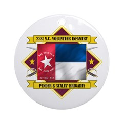 22nd NC Volunteer Infantry Ornament (Round)
