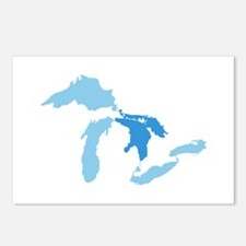 Cute Great lakes Postcards (Package of 8)