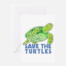 Save the Turtles Greeting Card