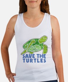 Save the Turtles Women's Tank Top