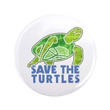 """Save the Turtles 3.5"""" Button"""