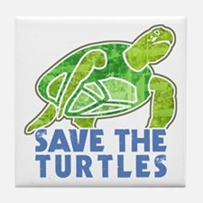 Save the Turtles Tile Coaster