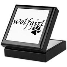 Wolf Girl Pawprint Keepsake Box