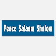 Peace Salaam Shalom Bumper Bumper Bumper Sticker