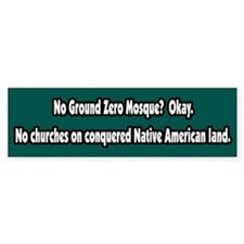 No Mosque, No Churches Bumper Bumper Sticker