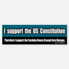 Support the Ground Zero Mosque Bumper Bumper Bumper Sticker