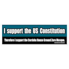 Support the Ground Zero Mosque Bumper Bumper Sticker