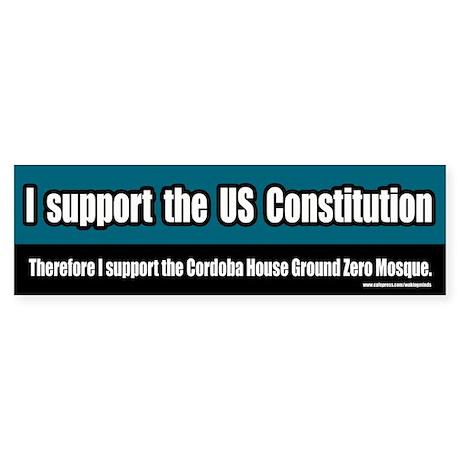 Support the Ground Zero Mosque Bumper Sticker