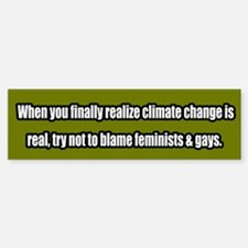 Global Warming/ Climate Change Bumper Bumper Bumper Sticker