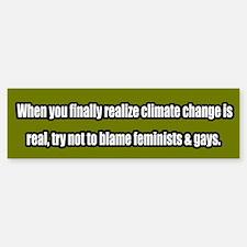 Global Warming/ Climate Change Bumper Bumper Bumper Sticker